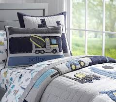 construction quilt pottery barn kids