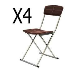 chaise de pliante lot de 4 chaises pliantes achat vente pas cher