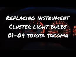 how to replace instrument cluster light bulbs in 2001 2004 toyota