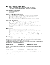 Hobbies And Interests On Resume Sample Of A Unique Personal Attributes Examples Resumes