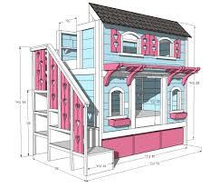 home design ana white sweet pea garden bunk bed storage stairs