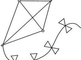 Printable Coloring Pages Of Kites Simple Kite
