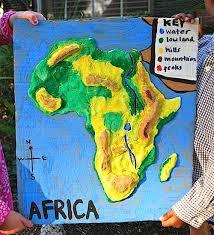 Africa 3D Salt Dough Map Kid World Citizen