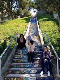 16th Avenue Tiled Steps In San Francisco by Beautiful Mosaic Stairs In Sf Great Workout And Makes For
