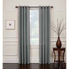 jaclyn smith slate blue hopsack window panel with grommets