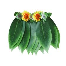 Amazoncom 5Pack Hawaiian Grass Hula Skirts Sets Flower