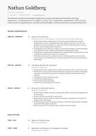 Descargar Epub Research Assistant - Resume Samples ... Resume For Research Assistant Sample Rumes Interns For Entry Level Clinical Associate Undergraduate Assistant Example Executive Administrative Labatory Technician Free Lab Examples By Real People Market Objective New Teacher Aide No Experience Elegant Luxury Psychology Atclgrain Biology Ixiplay