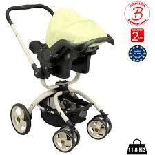 poussette siege auto poussette bébé 4 roues rotative combiné 3 en 1 poussette siège