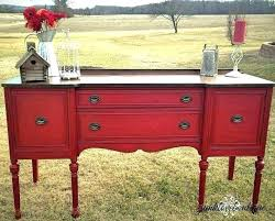 Antique Dining Room Buffet Sideboard Painted