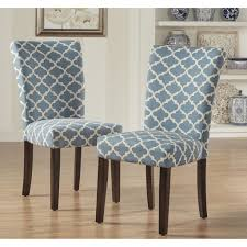 Moroccan Pattern Fabric Parsons Dining Chair