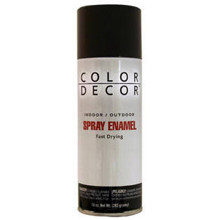 Color Decor Indoor and Outdoor Gloss Spray Enamel - Black