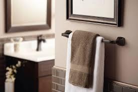Moen Oil Rubbed Bronze Bathroom Accessories by Moen 6903orb Voss Single Handle High Arc Lavatory Faucet Oil