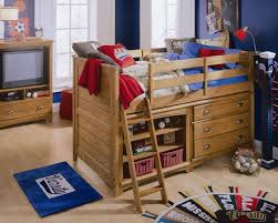 Low Loft Bed With Desk And Storage by Bedroom Pretty Bunk Bed With Sliding Desk And Storage Drawer