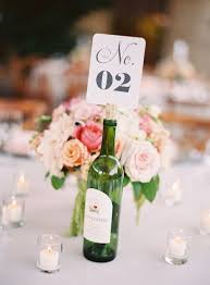 French Wedding Ideas Wine Centerpiece Table Number