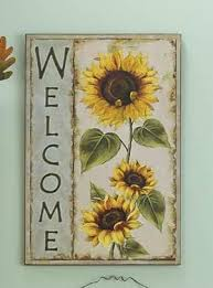 Country Sunflower Home Decor Accents