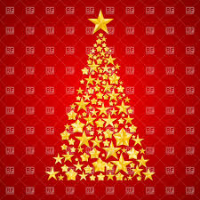Red Christmas Tree Clipart