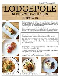 newsletter cuisine newsletter archives lodgepole