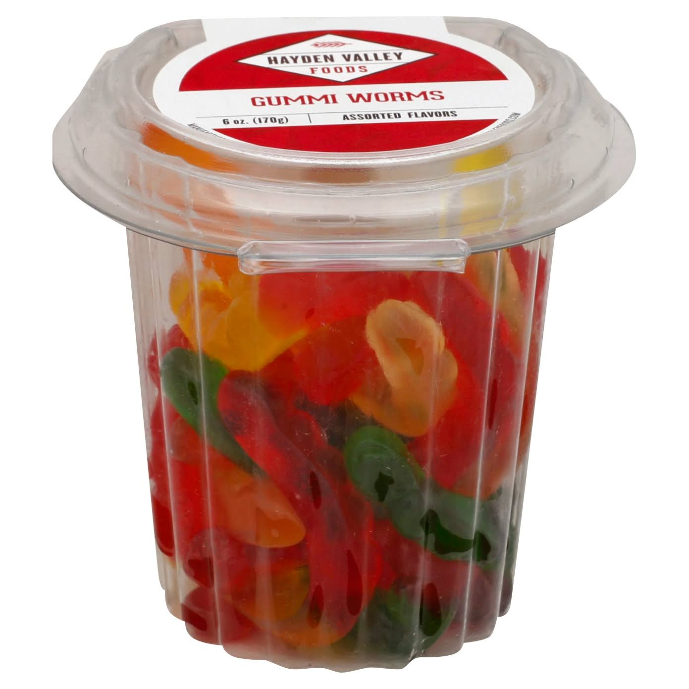 Hayden Valley Gummi Worms, Assorted Flavors - 6 oz