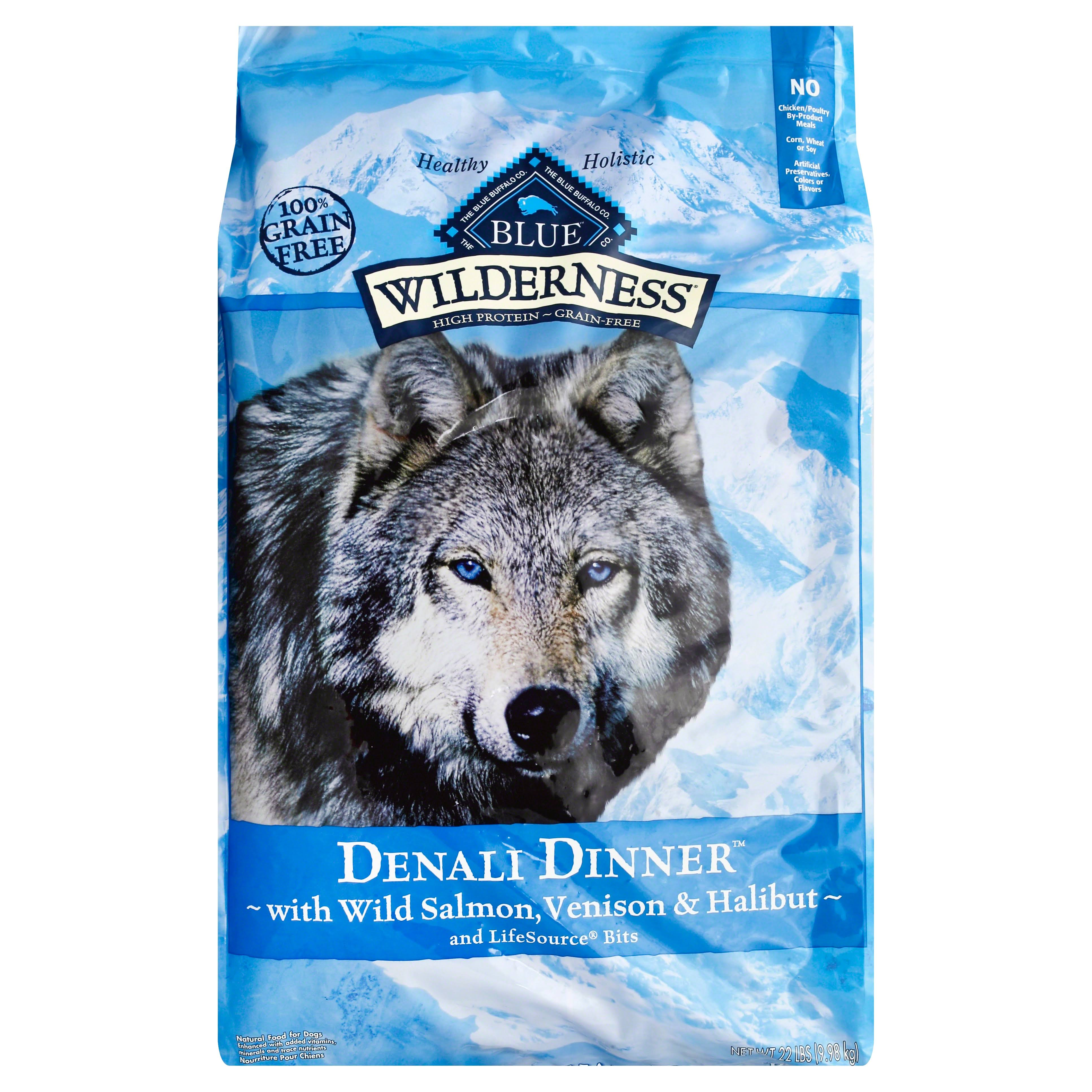 Wilderness Blue Buffalo High Protein Dry Adult Dog Food - Denali Dinner, 22 lb