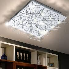 deckenle leuchte silber ip20 beleuchtung chrom wand licht wohnzimmer modern