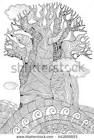 Coloring Book Page For Adult And Children Zentangle Style