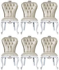 casa padrino luxus barock esszimmer stuhl set gold antik weiß gold 57 x 65 x h 113 cm küchen stühle 6er set barock esszimmer möbel edel