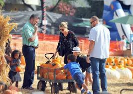 Skinny Bones Pumpkin Patch Food by Celebrity Families Head To Mr Bones Pumpkin Patch