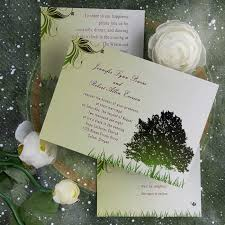 Cheap Rustic Green Tree Country Theme Wedding Invitations EWI040 As Low 094