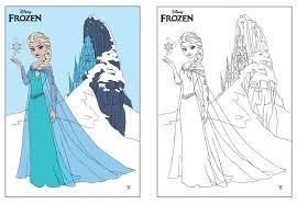 Disney Frozen ELSA Coloring Page By Dvythmsky