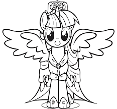 My Little Pony Princess Twilight Sparkle Coloring Pages Print The