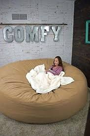 Huge Bean Bag Chairs Bed 8 Foot Oversized Chair In Twill Tan