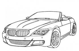 BMW M6 Car Coloring Pages Printable