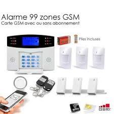 alarme maison sans fil gsm 99 zones large achat prix fnac