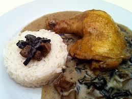 cuisiner trompette de la mort cuisse de poulet à la crème et chignons des bois la cuisine des
