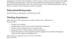 Hotel Front Office Manager Salary Nyc by Office Manager Resumes Tradinghub Co