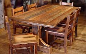 Remarkable Solid Wood Rustic Dining Table Room Brilliant Top New