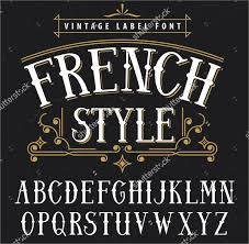 French Style Vintage Font