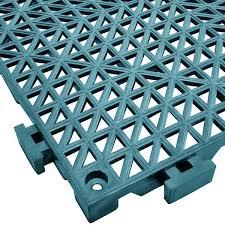 mat 2557 tlt poly lok 12 x 12 teal vinyl interlocking drainage