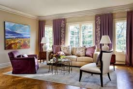 awesome picture of purple curtains living room purple ruffle
