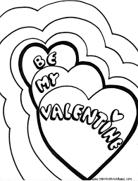 Valentines Day Coloring Sheets Free Page