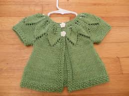 natural state knitting baby leaf sweater