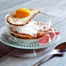 recette avec des oeufs dessert œuf en deux façons au lard fumé aubergines à la provençale par