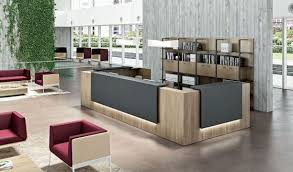 Office Reception Desks Awesome Contemporary And Modern Furniture Throughout