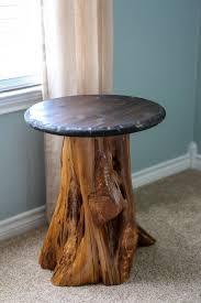 DIY Cedar Log Table