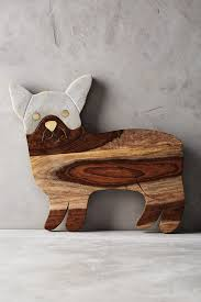 Anthropologies Best In Show Frenchie Cheese Board Is Crafted From An Elegant Mix Of Acacia Wood