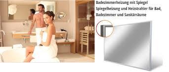 infrarotheizstrahler spiegelheizung für badezimmer