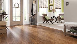 Laminate Wood Look Flooring Samples In Light And Dark Colors With Several Plank Widths