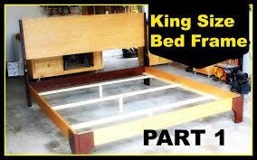 bed frames free bed designs wood plans plans for king size bed