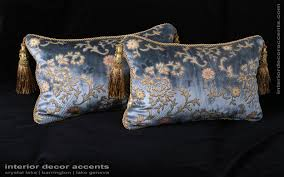 Large Decorative Couch Pillows by Scalamandre Sculpted Silk Velvet Lee Jofa Elegant Accent Pillows