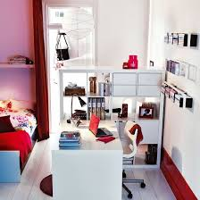 Great Study Area In Bedroom For Teenagers Using Ikeas Expedit Storage